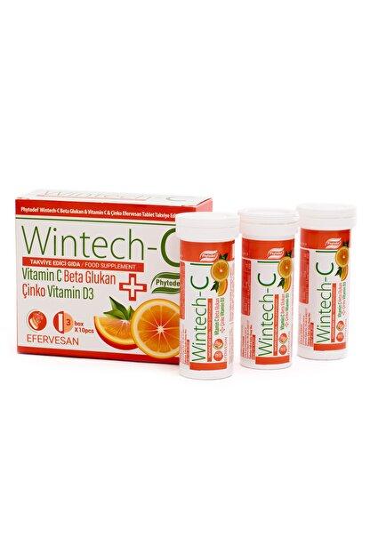 Phytodef Wintech C Beta Glukan Vitamin C  Çinko 30 Efervesan Tablet