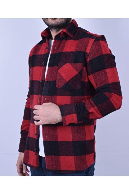 Otto Moda Erkek Kırmızı Oduncu Gömlek