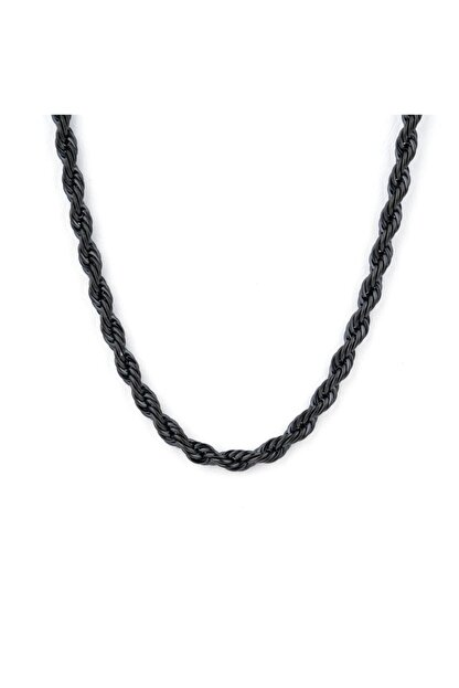 X-Lady Accessories Burgu Zincir Kolye- Siyah Kaplama   A+ Kalite Alaşım  