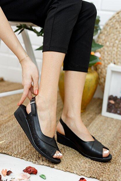 Muggo Ays72 Kadın Günlük Ortopedik Sandalet
