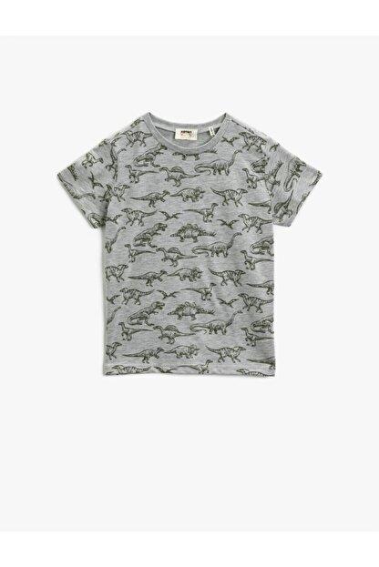 Koton Erkek Çocuk Koton T-shirt Gri