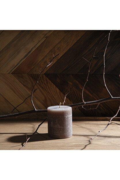Q-Art Cinnamon Silindir Blok Mum-7x8 Cm