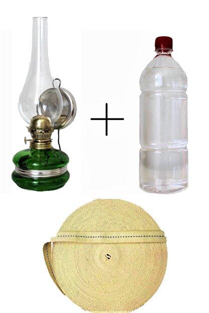 Sözen Klasik Gaz Lambası Sarı + 500 ml Kandil Yakıtı + 1 Metre Fitil
