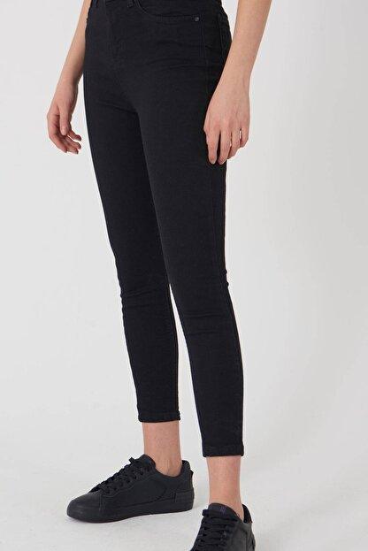 Addax Kadın Siyah Yüksek Bel Pantolon Pn8560 - Pnspnt Adx-0000014371