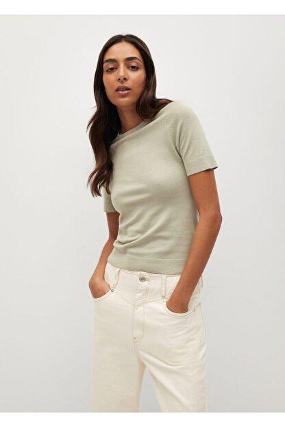 Mango Kadın Yeşil Bluz --