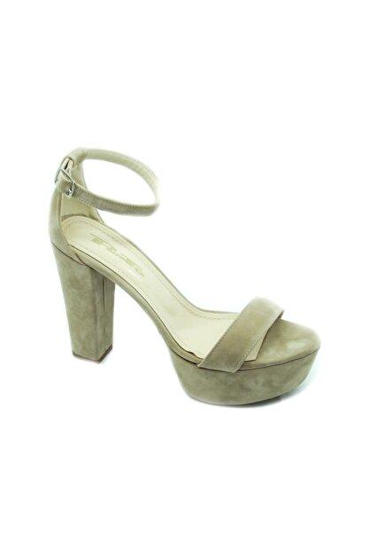 PUNTO Kadın Çift Platform Kalın Topuk Sıyah-Süet Ayakkabı