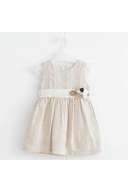 Mymio Kız Çocuk Önü Dantelli Elbise