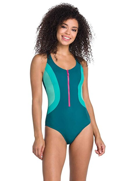 Dagi Kadın Petrol Yeşili Yüzücü Mayo B0119Y0006