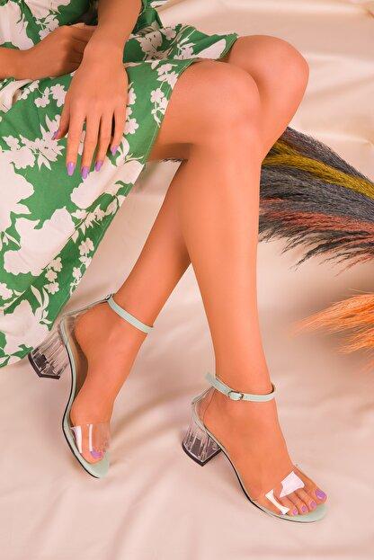 Soho Exclusive Yeşil Kadın Klasik Topuklu Ayakkabı 16132
