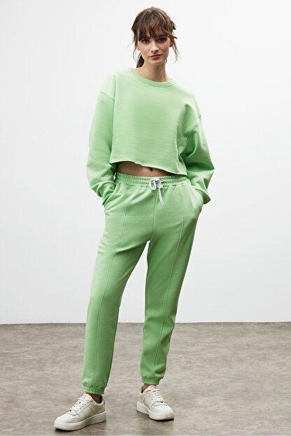 GRIMELANGE CLEMENTINE Kadın Yeşil Renk Yuvarlak Yaka Eşofman Takımı