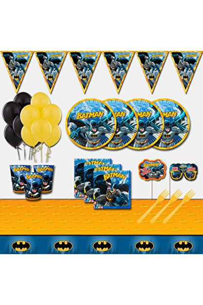 Batman Doğum Günü Parti Malzemeleri Seti 32 Kişilik