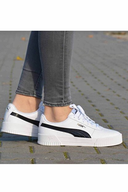 Puma Carina Pfs Wn's Kadın Günlük Spor Ayakkabı 371212 02 Beyaz-syh