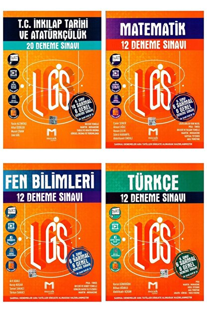 Maksimum Mozaik Mozaik Yayınları Lgs Deneme Seti 4 'lü-türkçe-matematik-fen-ınkılap