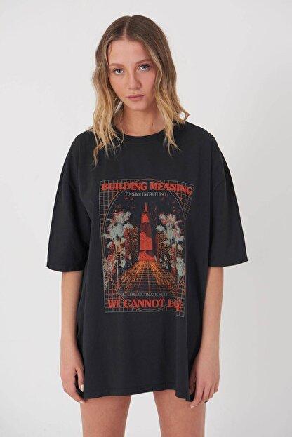 Addax Baskılı T-shirt P9528 - R13