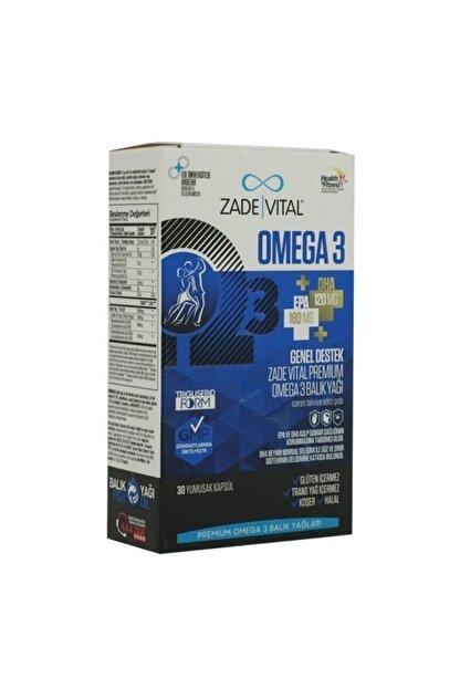 Zade Vital Omega 3 Balık Yağı Premium 30 Kapsül