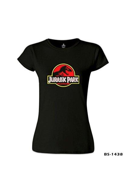 Lord T-Shirt Jurassic Park - Shadow Siyah Bayan Tshirt