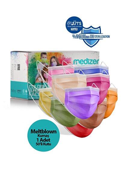 Sabomar Medizer Full Ultrasonik Cerrahi Ağız Maskesi 3 Katlı 50 Adet