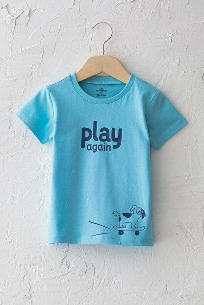 LC Waikiki Erkek Bebek Mavi G0P T-Shirt