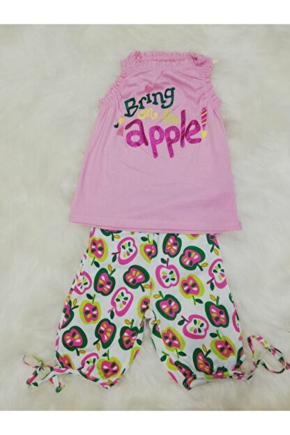 Wonder Kids Kız Çocuk Bermuda Askılı Yazlık Pijama Takımı