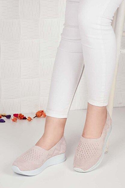 Weynes Kadın Krem Triko Günlük Ayakkabı Ba20500