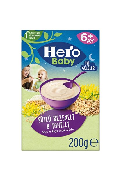 Hero Baby Ek Besin Mama Süt Rezene Gece 200 gr