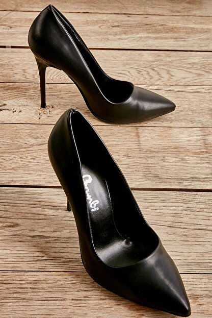 Bambi Siyah Kadın Klasik Topuklu Ayakkabı K01596177009