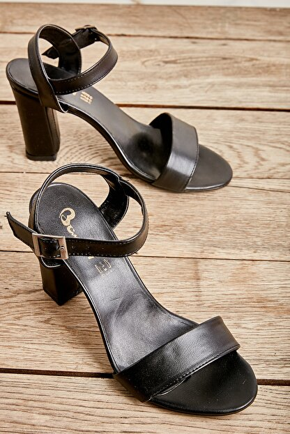 Bambi Siyah Kadın Klasik Topuklu Ayakkabı K05503740009