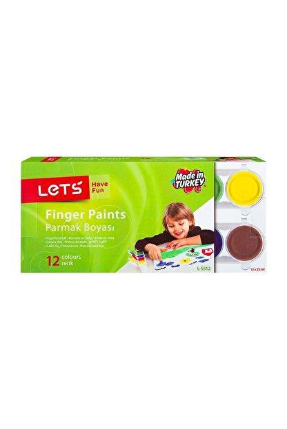 Lets L-5512 12 Renk Parmak Boyası 12x25 Ml