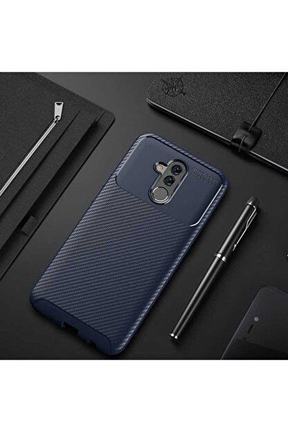 Huawei Mate 20 Lite Kılıf Karbon Fiber Tasarımlı Dayanıklı Negro Model