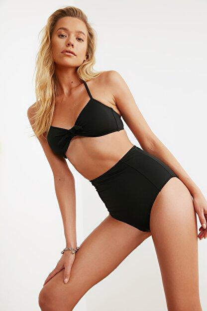 TRENDYOLMİLLA Siyah Yüksek Bel Bikini Altı TBESS21BA0070