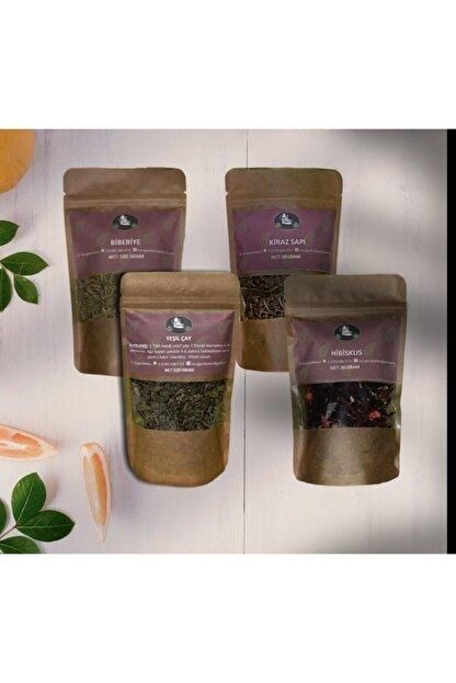 Bi Organik Detoks Seti Yeşil Çay, Hibiskus, Kiraz Sapı, Biberiye
