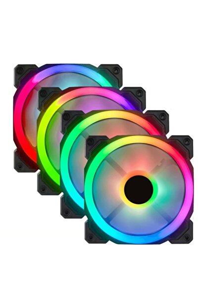 GAMETECH 7r Pro Seri (4'lü Set) Rainbow Ledli Sessiz 120mm Kasa Fanı