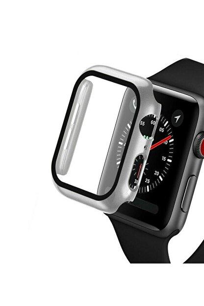 TahTicMer Apple Watch 44mm Tpu Çerçeveli Ekran Koruyuculu Ön Çerçeve Kılıf