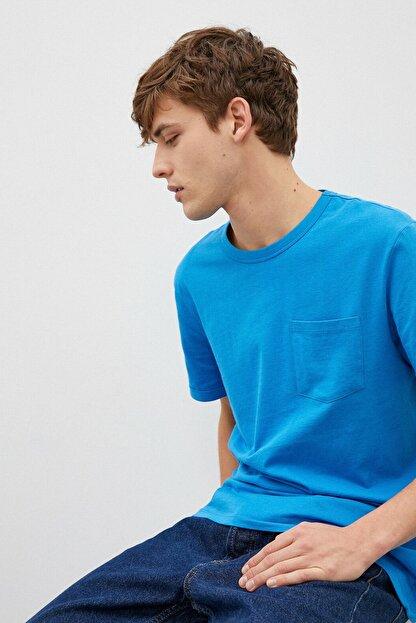 Koton Erkek Mavi T-Shirt 1Yam12317Lk