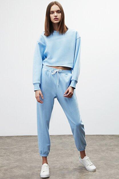 GRIMELANGE CLEMENTINE Kadın Mavi Renk Yuvarlak Yaka Eşofman Takımı