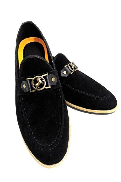 MF MARKA SHOES Erkek Siyah Günlük Tokalı Ayakkabı