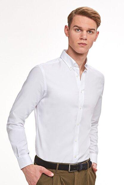 Hemington Erkek Beyaz Oxford Gömlek
