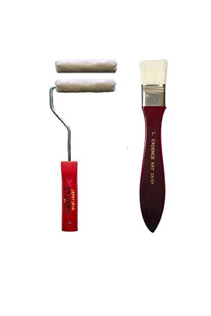 Cadence Boya İz Bırakmayan İpek Fırça Parmak Kadife Rulo Fırça Seti 10cm