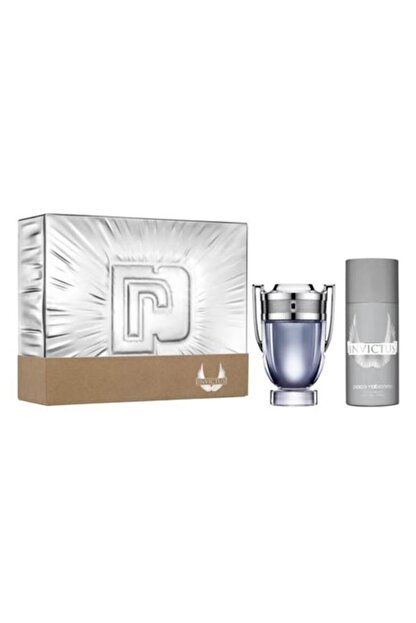 Paco Rabanne Invictus Edt 100 ml Erkek Parfüm  ve  Deodorant 150 ml 3349668582716