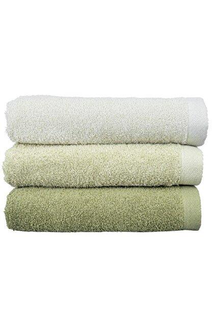 Çeyiz Diyarı Transition 3 Lü Pamuklu Banyo Havlu Takımı - Yeşil
