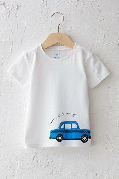 LC Waikiki Erkek Bebek Optik Beyaz E5X T-Shirt