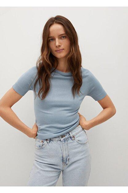 Mango Kadın Mavi Bluz