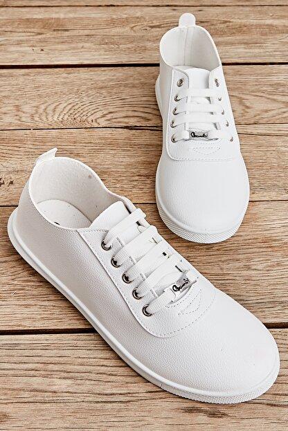 Bambi Beyaz Kadın Casual Ayakkabı K01543400109