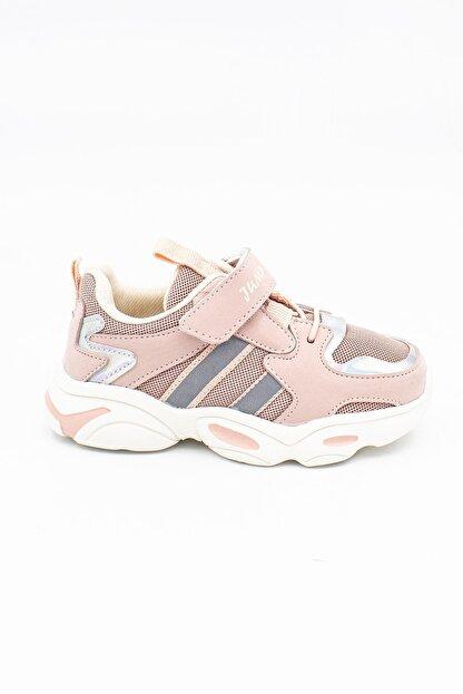 Jump Kız Çocuk Pembe Cırtlı Günlük Ayakkabı 20kjum26056071