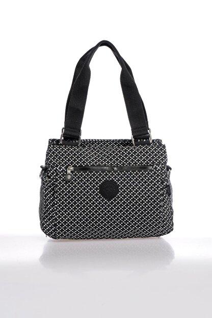 Smart Bags Smbky1125-0127 Siyah/beyaz Kadın Omuz Çantası