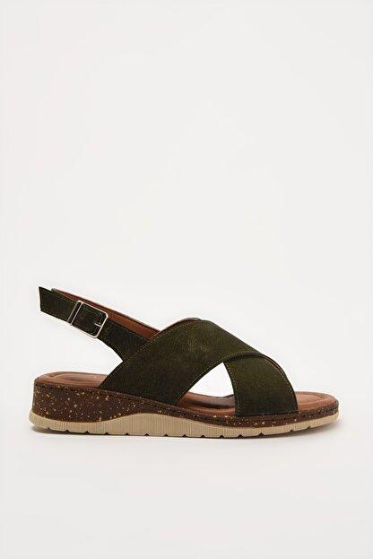 Yaya by Hotiç Haki Kadın Sandalet 01SAY212710A880