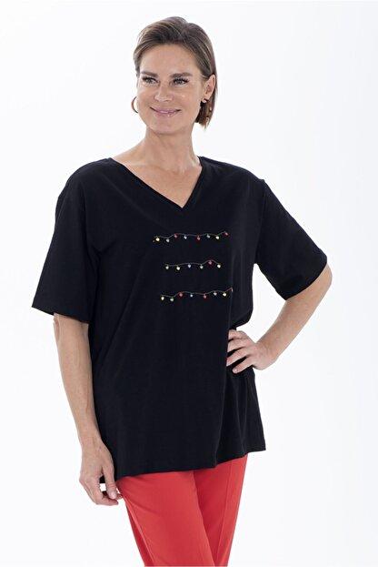 Christine Cotton Club Kadın Büyük Beden T-shirt