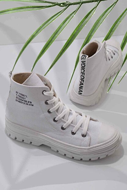 Bambi Beyaz Kadın Sneaker K01530110818