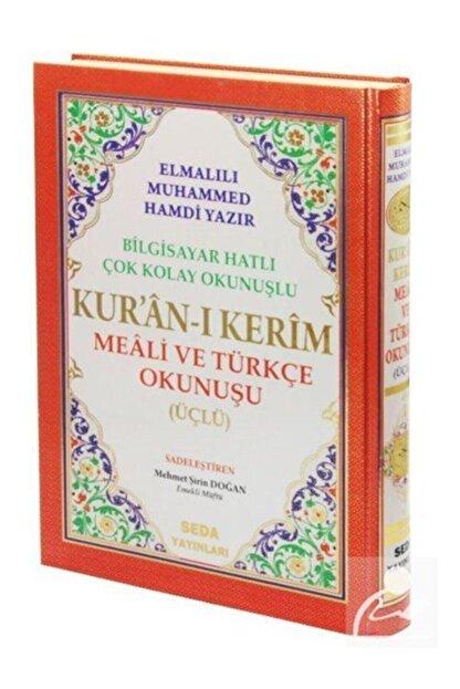 Seda Yayınları Kuranı Kerim Meali Ve Türkçe Okunuşlu Rahle Boy Bilgisayar Hatlı Üçlü Kod.004