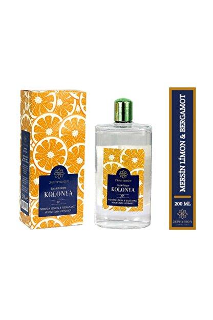 ZEPHYRİON KOZMETİK Mersin Limon Bergamot Parfümlü Kolonya 200 ml